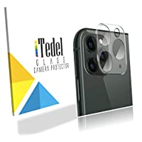 iTedel 3D Camera Lens Protector for iPhone 11 Pro/iPhone 11 Pro Max, HD Clear Tempered Glass 9H Anti-Scratch Anti-Fingerprints with Smooth Touch Camera Protector