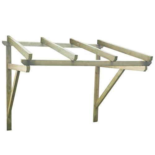Xingshuoonline Terrassenmarkise Pergola aus Holz für die Tür, 150 x 100 x 160 cm Sonnensegel mit...