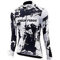 Uglyfrog Mujer diseño de hojas corto de ciclismo SetMalliots Ciclismo Mujer Largos Jersey + Pantalones + 3D cojín Transpirable y Cómodo Conjunto de Ciclista para Deporte al Aire Libre MESQXFNC04