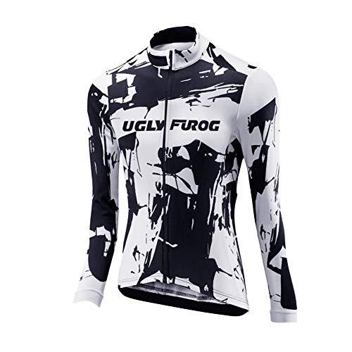Uglyfrog Bike Wear Radsport Bekleidung Lady Langarm Trikots & Shirts Fahrradbekleidung Winter Style with Fleece Dahrradjacke Damen