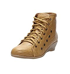 CATBIRD Women Camel Stylish Casual Boots LED-48 (41)