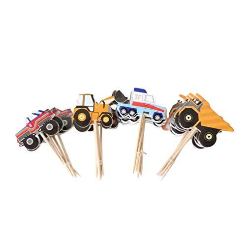 UPKOCH 48 piezas de decoraciones para tartas de cumpleaños, decoración de vehículo...