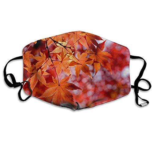 Kinderschönes Ahorn-Unkraut Wiederverwendbare Anti-Staub-Gesichtsmaske, staubdichte, atmungsaktive Außenmaske aus Polyester - Unkraut Für Ohrringe Männer