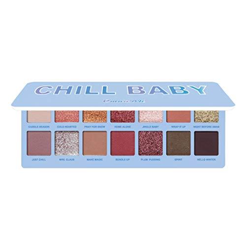 Finebuying 14 Farbe wasserdicht Lidschattenplatte Pulver Matt Lidschatten Kosmetik Make-up...