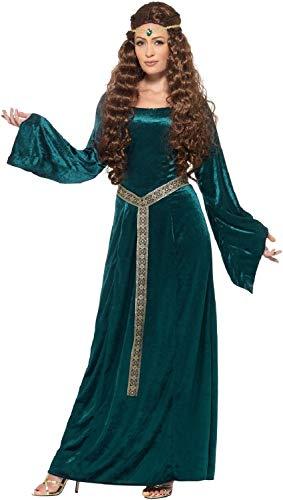 Of Game Tyrell Kostüm Thrones - Fancy Me Damen-Kostüm, lang, Blaugrün, mittelalterliche Renaissance, Historische Throne, Game Tyrell TV-Buch-Film, Kostüm, Kostüm, Outfit, Größe 36-54