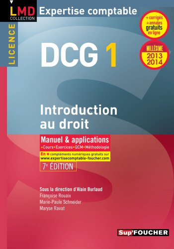 DCG 1 Introduction au droit 7e édition ...