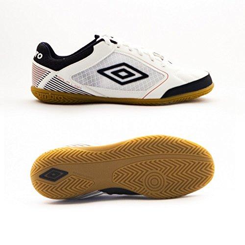 Umbro Sala Liga Ic Ad, Chaussures de Football Amricain Homme Blanco / Dark Navy / Vermillion