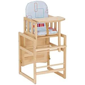 herlag h4842 212 hochstuhl kombi set tx buche massiv hellblau baby. Black Bedroom Furniture Sets. Home Design Ideas