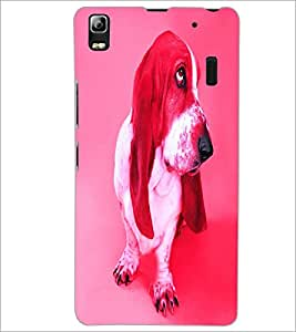 PrintDhaba Cute Dog D-3440 Back Case Cover for LENOVO A7000 PLUS (Multi-Coloured)