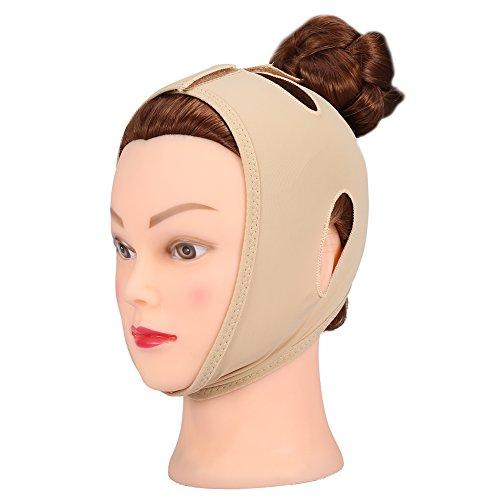 Gesicht Abnehmen Maske, V Gesicht Kinn Bandage Gürtel, Facial Slimming Mask Facelift Thin Neck Maske ((haut farben) XL) (Lycra-kollektion Schöne)