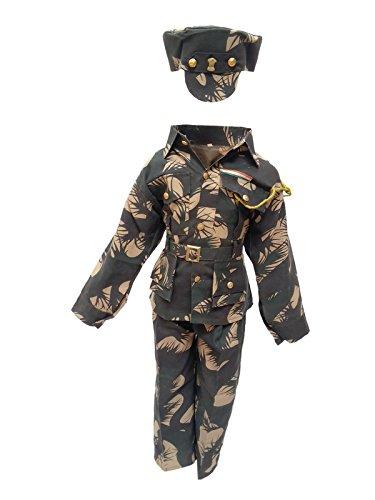 KFD Unisex Kids Military Fancy Dress (Kfd86.2_Green_5-6 Years)