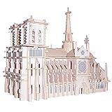 Eternitry Juguete Educativo para niños Modelo de Rompecabezas en 3D, Juego de maquetas de Madera de construcción de Notre Dame 3D