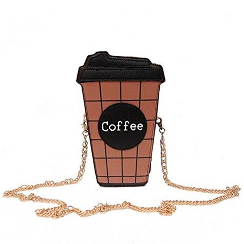 e Kaffee Latte Handtasche Messenger Schulter Kette Einkaufstasche Geldbörse Für iPhone X Für Samsungs8 ()
