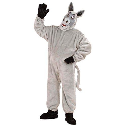 Esel Kostüm Eselkostüm aus Plüschfell Maultier Plüsch Overall Ganzkörperkostüm Strampler Tier Plüschkostüm Bauernhof Maskottchen Tierkostüm (Maskottchen Kostüme Esel)