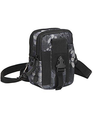 CUKKE Multipurpose Taktische Tasche Gürtel Taille Pack Tasche Military Taille Fanny Pack Telefon Tasche Gadget Geld Tasche Grün Tarnung 7