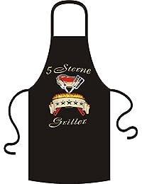 """5 Sterne griller """"- tablier-t-shirt, multicolore, taille unique"""