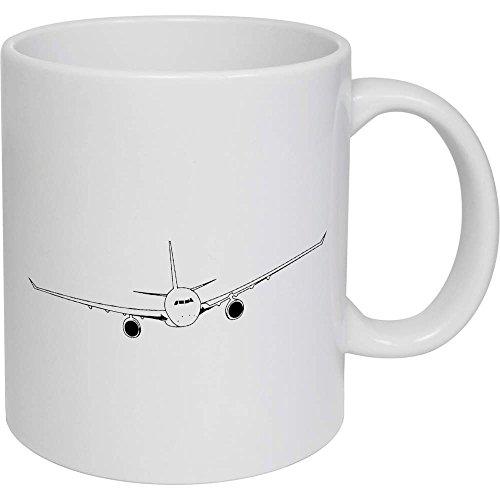 Azeeda 320ml 'Eingehendes Flugzeug' Kaffeetasse / Becher (MG00001184)
