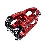 Radfahren Fahrradlenker, Fahrrad Vorbau Aluminiumlegierung 31,8 * 50 mm Ultraleichte Kurze Aluminiumlegierung Fahrradlenker und Vorbau für die meisten Fahrrad, Mountainbike, Rennrad (Rot + Schwarz)