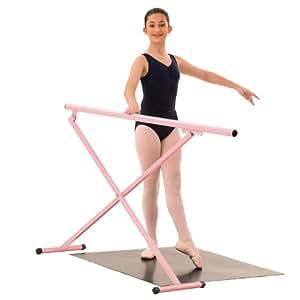 1st Position Barre de danse portable Rose