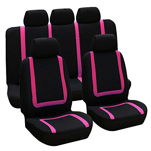 Set di 9 coprisedili universali per auto, traspiranti, comodi e antimacchia, resistenti all'usu
