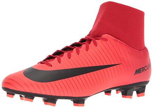Nike Fußballschuhe Fußball (Nike Herren Mercurial Victory VI DF FG Fußballschuhe, Rot (Rouge Université/Cramoisi Brillant/Noir), 40 EU)