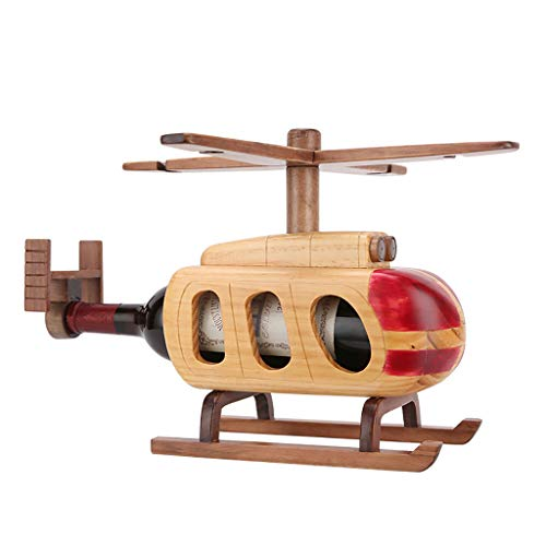 LYHXXX Weinregal, Massivholz Flugzeug Rotwein Becherhalter European Creative Display Stand Wein Treibende Dekoration 39,5 × 37,5 × 27 cm