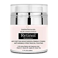 Beauty Retinol Moisturizer Cream For Face And Eye Area With Retinol Hyaluronic Acid Vitamin E And Green Tea. Night And Day Moisturizing 1.7 oz () 50 ml, Pack of 1