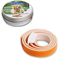 DryMartine Dog Flea and Tick Collar, Waterproof Anti Flea Pet Collar,90 Days Effectiveness Protection Adjustable Length 60cm
