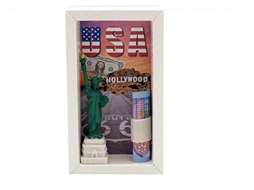 Geldgeschenk Verpackung Geldverpackung Urlaub Reise USA Amerika