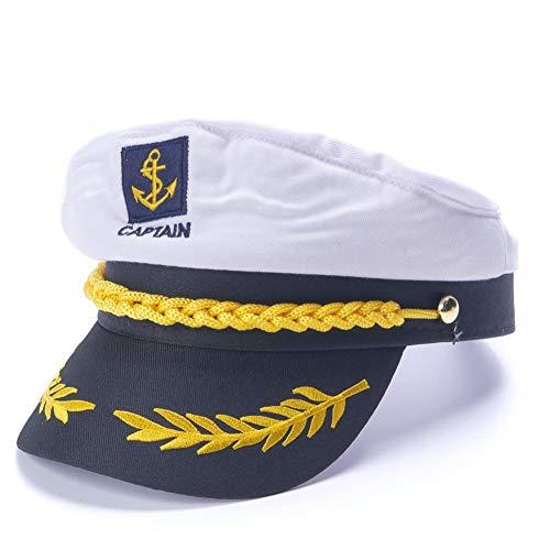 Kostüm Für Seemann Erwachsene - MDKZ Kappe Weißes Seemann-Hutkappen-Kostüm Erwachsene Partei-Abendkleid