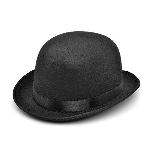 Bristol Novelty bh028Bowler Filz Hat, schwarz, one size (Halloween-kostüm Bowler Hut Ideen)