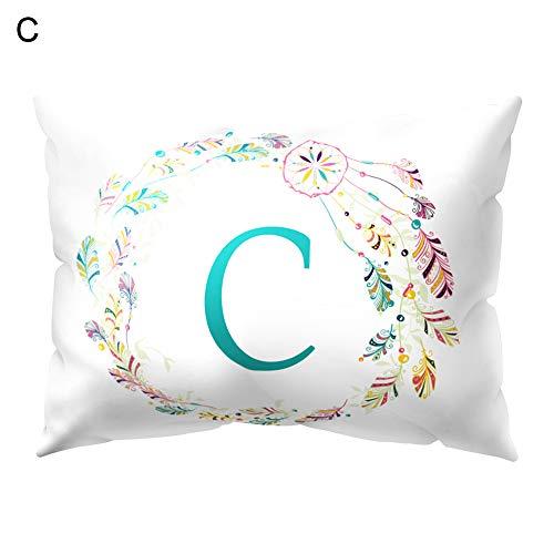 GSYClbf - Funda de cojín para sofá o Cama, Estilo Casual, diseño de Letras, C