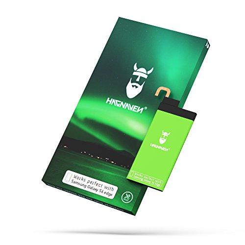 Hagnaven® Li-Polymer Akku für Galaxy S6 Edge SM-G925F   LEISTUNGSSTÄRKSTER Ersatzakku mit NFC   2700 mAh Premiumakku durch hochwertigste QUALITÄTSZELLEN   ersetzt EB-BG925ABE   Produktionsjahr 2018
