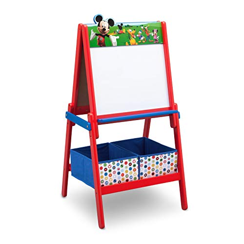 09mm Mickey Mouse double-sided Easel Wood Red/Blue 115,70x 55.88x 55.88cm) ()