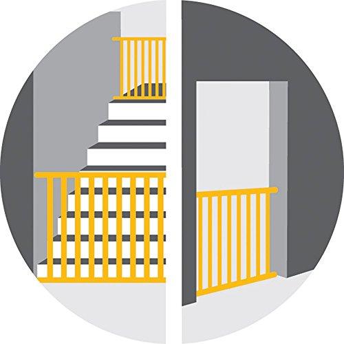 Safety 1st Quick Close ST Treppenschutzgitter, extra sicheres Metall-Türschutzgitter zum Klemmen, weiß, 73-80 cm, Möglichkeit der Verlängerung bis zu 136 cm verlängerbar (ab ca. 6-24 Monate) - 6