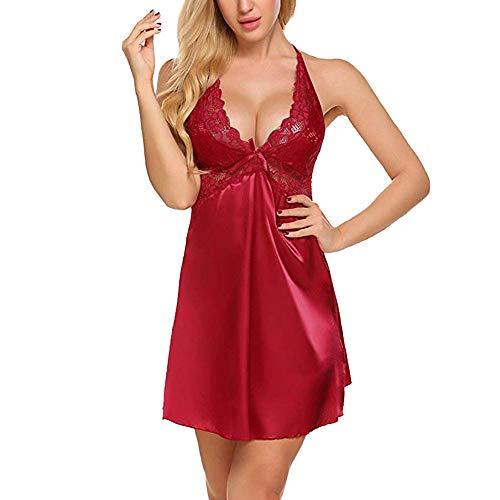 519240b30 Lencería Sexy para Mujer,Conjuntos de lencería Ropa Interior de Dormir  Encaje Sexy más Ropa