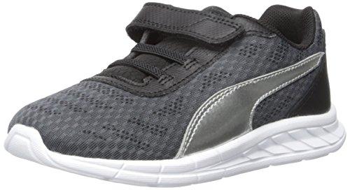 Drift Cat Leder Casual Schuh (Puma Meteor V Kids Sneaker, Asphalt Silver, 4 M US Toddler)