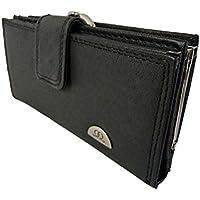 Grande borsa vera pelle nera 12slot card 2Coin, Borse Quenchy ql209m