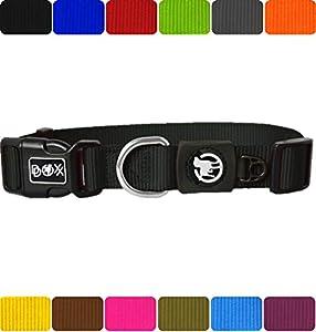 DDOXX Hundehalsband aus Premium Nylon  ...Freude für den Hund  Strapazierfähiges und langlebiges Hundehalsband für jeden Tag. Die Nylon Hundehalsbänder bestehen aus leichtem und langlebigem Nylon-Gewebe. Das Material zeichnet sich durch seine Widers...