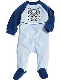 Playshoes Unisex Baby Schlafstrampler Schlafoverall Nicki Hippo