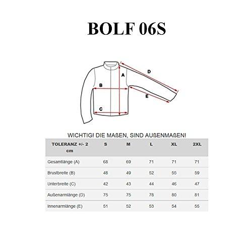 BOLF - Felpa con cappuccio - Con cerniera - BOLF 06S - Uomo Blu scuro