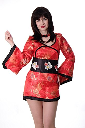 DRESS ME UP Kostüm Damen Damenkostüm China Girl Geisha Kimono Kurtisane Gr. S / M L215