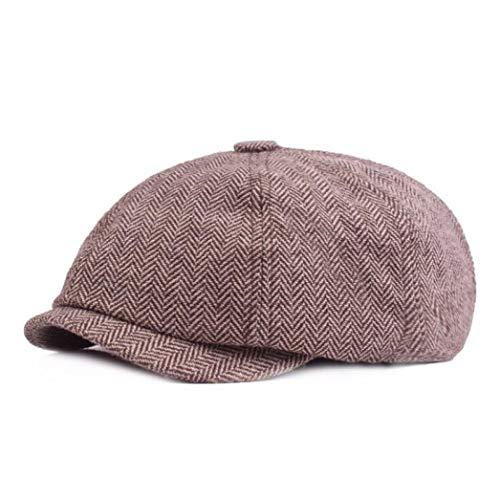 AROVON Hut Tweed Gatsby Zeitungsjunge Mütze Frühling Herbst Mütze für Herren Golf Driving Flat Cap Baskenmützen Peaky Blinders
