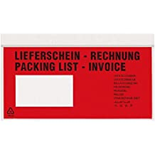 MM 16142 - Lieferscheinversandtaschen - Rechnung mehrsprachig/Packing list-invoice, 230 x 115 mm, 1.000 Stück, 4.0 kg
