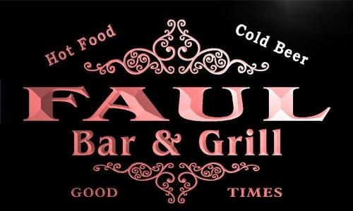 u14077-r FAUL Family Name Gift Bar & Grill Home Beer Neon Light Sign Barlicht Neonlicht Lichtwerbung -