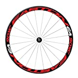 1 Seite, Mehrfarbig, reflektierende Aufkleber für Fahrrad, 66 cm / 27,5 Zoll Radfahrradzubehör, Rot