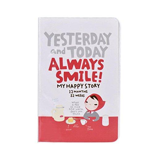 Preisvergleich Produktbild winwintom Cute Weekly plannerdiary Notebook rot