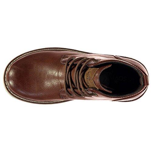 Soviet Enfants Anzhi Garcons Chukka Bottines Desert Chaussures Decontractees Brun Clair