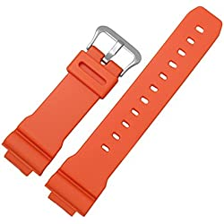 Zhuhaixmy Replacement Resin Soft Watch Band Strap for Casio Men's GW-M5610MR DW-6900MM-4
