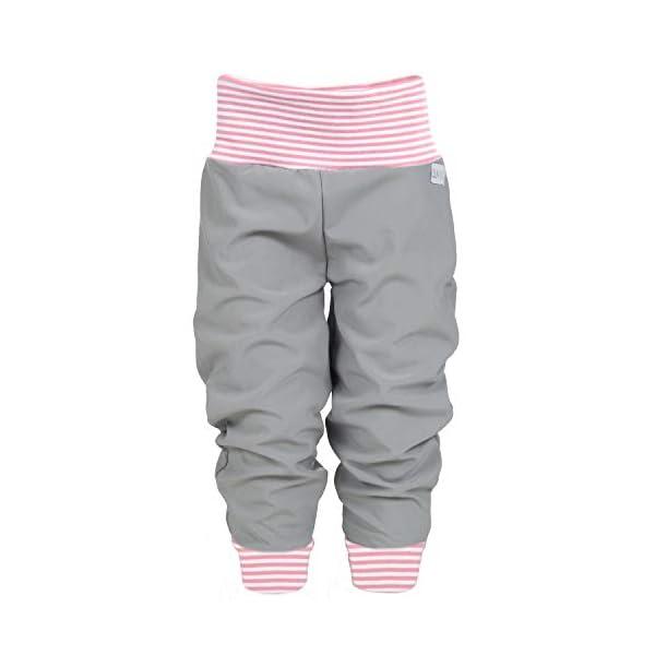 Lila Niño Softshell–Pantalón para bebé niños Pantalón Otoño Invierno forrado Lluvia Pantalones Monótono gris rayas rosa Talla 50/56–134/140–Fabricado en Alemania. 1